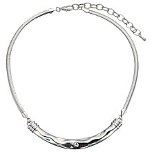 Buy John Lewis Hammered Bar Necklace, Silver Online at johnlewis.com