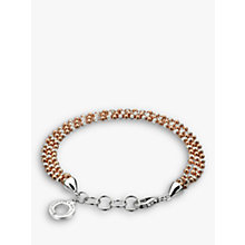 Buy Hot Diamonds Sterling Silver Bead Bracelet, Rose Gold/Silver Online at johnlewis.com