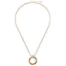 Buy John Lewis Paved Multi Hoop Long Necklace Online at johnlewis.com