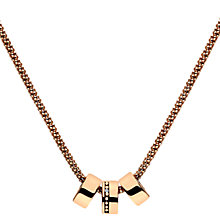 Buy Hot Diamonds Rose Gold Plated Trio Necklace, Rose Gold Online at johnlewis.com
