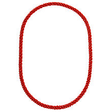 Buy John Lewis Twisted Bead Long Necklace Online at johnlewis.com