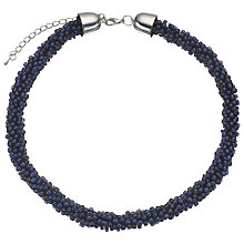 Buy John Lewis Twisted Bead Necklace, Navy Online at johnlewis.com