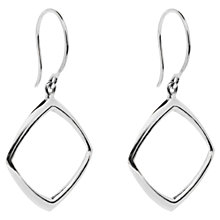 Buy Dinny Hall Cushion Drop Earrings, Silver Online at johnlewis.com