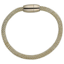 Buy John Lewis Mini Effervescence Bangle, Silver Online at johnlewis.com