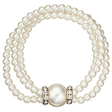 Buy John Lewis Multi Row Faux Pearl Stretch Bracelet, White Online at johnlewis.com