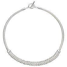 Buy John Lewis Split Stack Chain Necklace, Silver Online at johnlewis.com