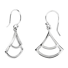 Buy Dinny Hall Sterling Silver Trapeze Double Drop Earrings, Silver Online at johnlewis.com