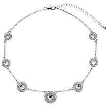 Buy John Lewis Roulette Sparkle Necklace, Silver Online at johnlewis.com