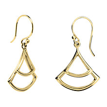 Buy Dinny Hall 22ct Gold Plated Sterling Silver Trapeze Double Drop Earrings, Gold Online at johnlewis.com