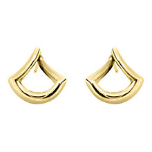 Buy Dinny Hall 22ct Gold Plated Sterling Silver Trapeze Twist Stud Earrings, Gold Online at johnlewis.com