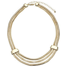 Buy John Lewis Textured Mesh Necklace, Gold Online at johnlewis.com