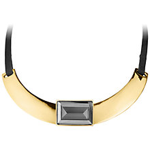 Buy Dyrberg/Kern Lalitya Necklace, Black/Grey/Gold Online at johnlewis.com