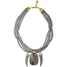Buy Dyrberg/Kern Saiwai Necklace, Grey/Gold Online at johnlewis.com