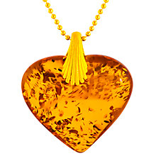 Buy Be-jewelled Cognac Amber Shell Shaped Pedant, Amber Online at johnlewis.com