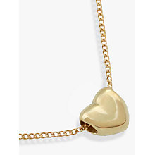 Buy Nina B 9ct Gold Small Heart Pendant, Gold Online at johnlewis.com