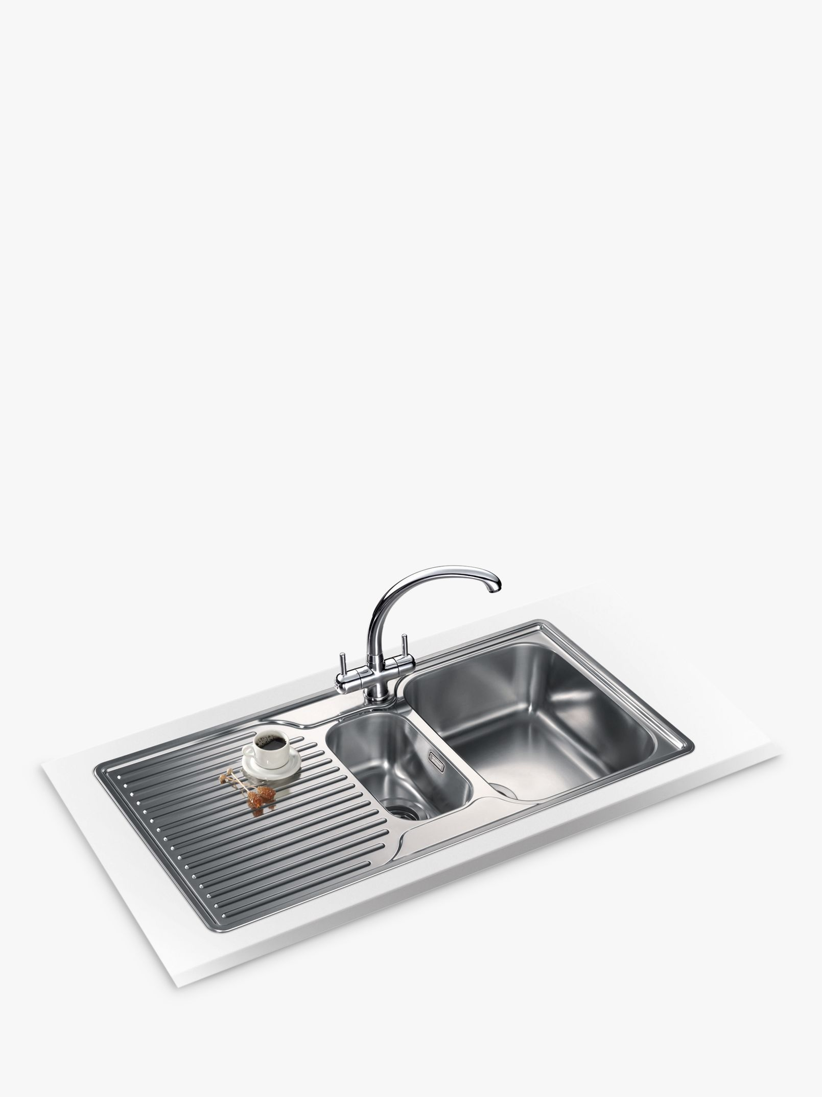 Franke Franke Ariane ARX 651P Right Hand 1.5 Bowl Sink, Stainless Steel