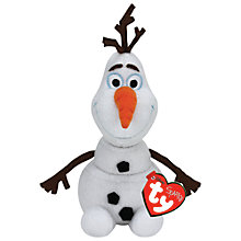 Buy Ty Disney's Frozen Olaf Beanie Soft Toy Online at johnlewis.com