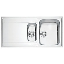 Buy Franke Maris MRX 251 Right Hand 1.5 Bowl Sink, Stainless Steel Online at johnlewis.com