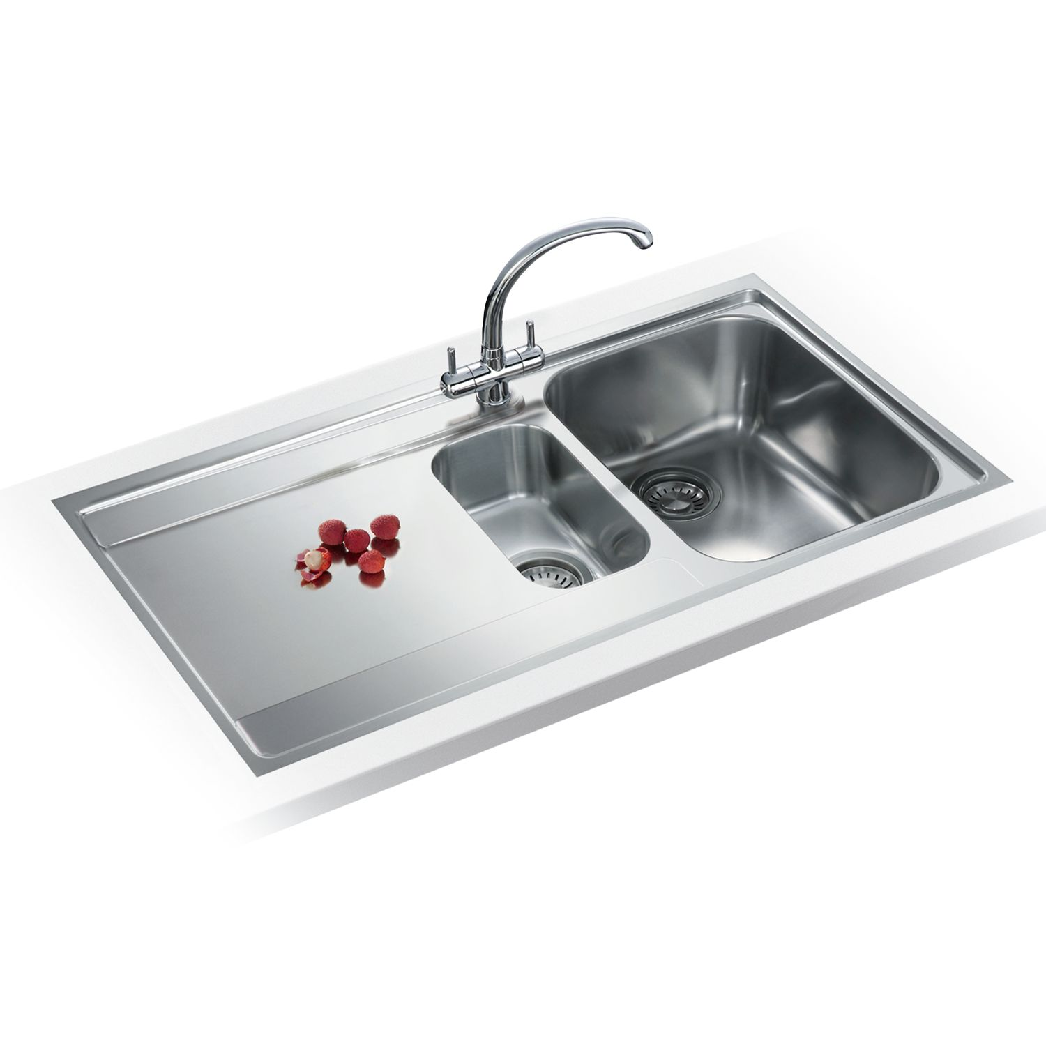 Franke Franke Maris MRX 251 Left Hand 1.5 Bowl Sink, Stainless Steel