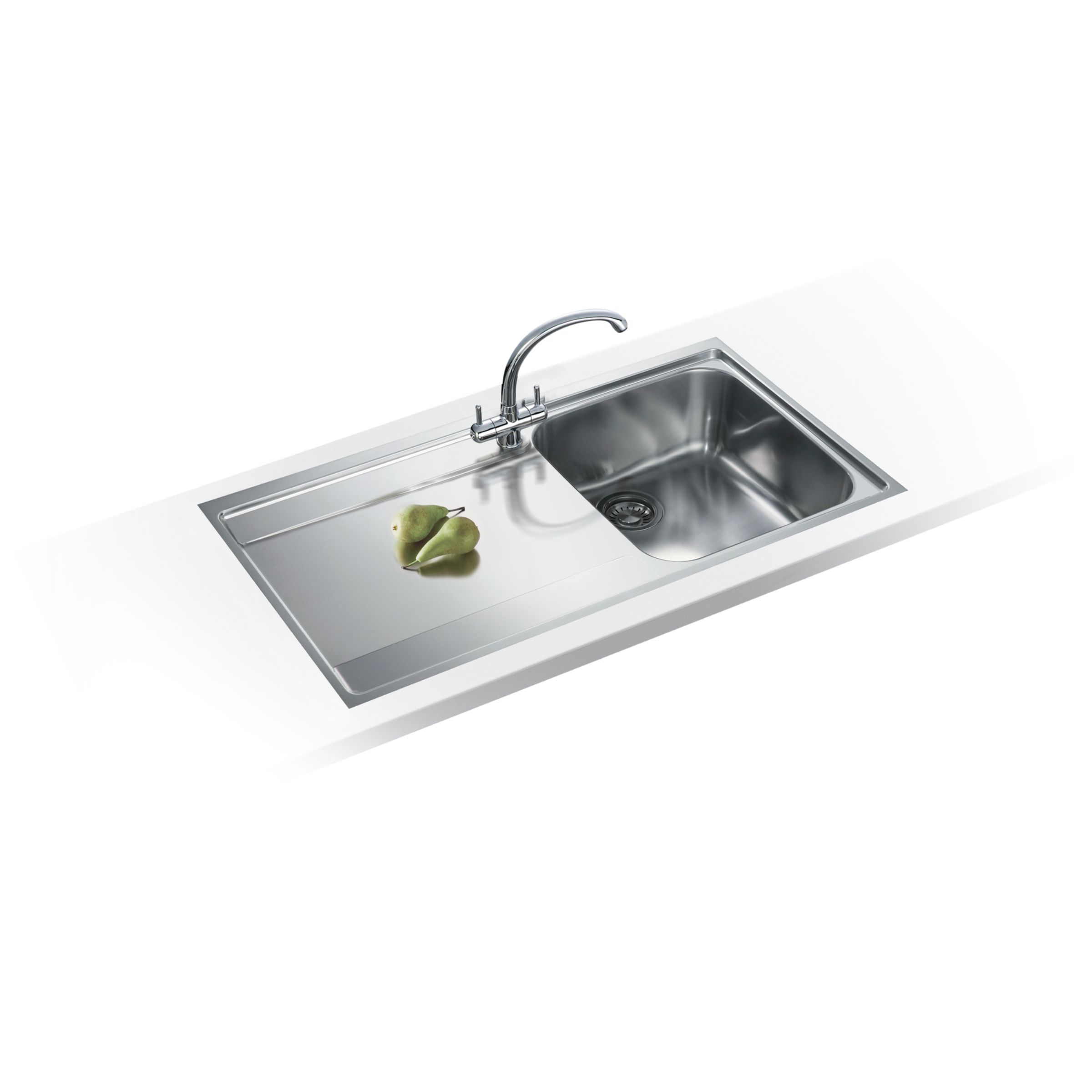 Franke Franke Maris MRX 211 Left Hand Single Bowl Sink, Stainless Steel