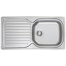 Buy Franke Elba ELN 61196 Single Bowl Sink, Stainless Steel Online at johnlewis.com