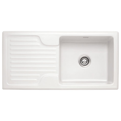 Franke Galassia Sink : Buy Franke Galassia GAK 611 Single Bowl Kitchen Sink, White Online at ...