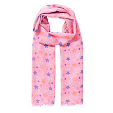 Buy John Lewis Girl Star Print Scarf, Pink/Multi Online at johnlewis.com