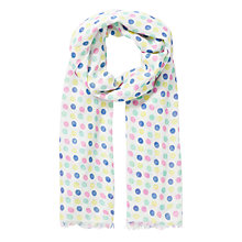 Buy John Lewis Girl Spot Scarf, White/Multi Online at johnlewis.com