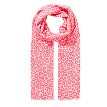 Buy John Lewis Girl Leopard Print Scarf, Pink Online at johnlewis.com