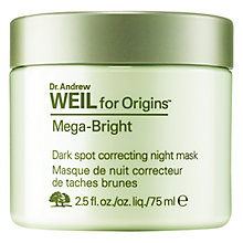 Buy Dr. Andrew Weil for Origins Mega-Bright Dark Spot Correcting Night Mask, 75ml Online at johnlewis.com