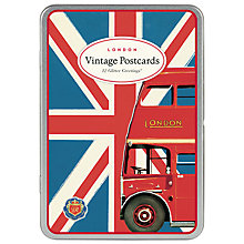 Buy Cavallini Vintage London Glittered Postcards, Set of 12 Online at johnlewis.com