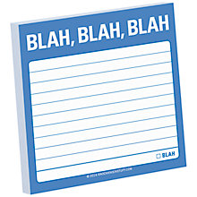 Buy Knock Knock Blah Blah Blah Sticky Notes Online at johnlewis.com