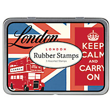 Buy Cavallini Vintage London Stamps Set, 3 Pieces Online at johnlewis.com