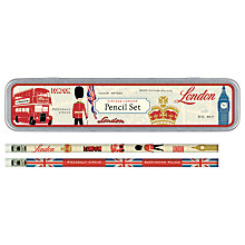 Buy Cavallini Vintage London Pencil Set Online at johnlewis.com