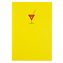 Buy Art File Cocktail Greetings Card Online at johnlewis.com
