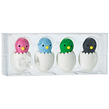 Buy Tinc Chicks Erasers, Set of 4 Online at johnlewis.com