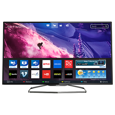 """Philips 48PFS6909 Ultra-Slim LED HD 1080p 3D Smart TV, 48"""" with Freeview HD, Ambilight and 2x 3D Glasses"""