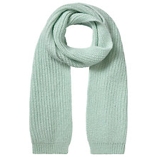 Buy Whistles Mohair Blend Knitted Scarf, Pale Green Online at johnlewis.com