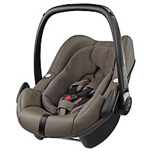 Buy Maxi-Cosi Leather Pebble Plus i-Size Group 0+ Baby Car Seat, Major Brown Online at johnlewis.com
