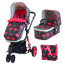 Buy Cosatto Draft Giggle 2 Travel System with Carrycot and Changing Bag, Flamingo Online at johnlewis.com