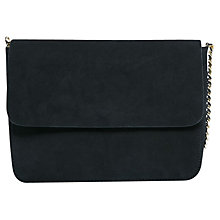Buy Mango Suede Chain Bag, Black Online at johnlewis.com