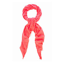 Buy Oasis Textured Bright Scarf, Coral Online at johnlewis.com
