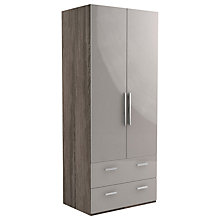Buy John Lewis Leben 2 Door and 2 Drawer 90cm Hinged Wardrobe Online at johnlewis.com