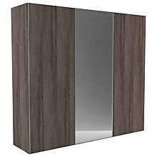 Buy John Lewis Leben 3 Door 240cm Central Mirror Sliding Wardrobe Online at johnlewis.com