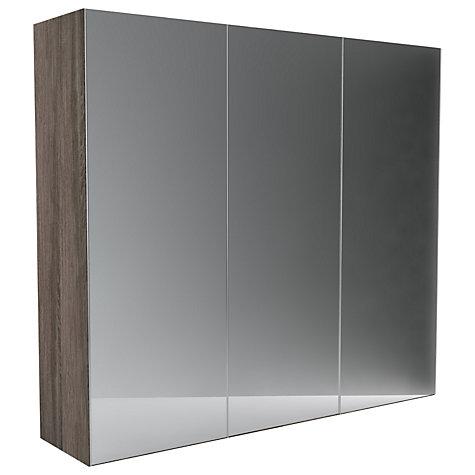 Lewis Leben 3 Door 240cm Mirrored Sliding Wardrobe Mirror Durham Oak