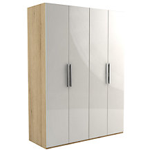 Buy John Lewis Leben 4 Door 160cm Wardrobe Online at johnlewis.com