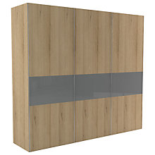 Buy John Lewis Leben 3 Door 240cm Glazed Panel Sliding Wardrobe Online at johnlewis.com