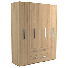 Buy John Lewis Leben 4 Door and 2 Drawer Linen-Press 170cm Bi-Fold Wardrobe Online at johnlewis.com