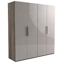 Buy John Lewis Leben 4 Door 200cm Hinged Wardrobe Online at johnlewis.com