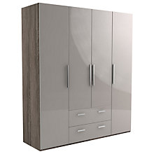Buy John Lewis Leben 4 Door and 2 Drawer Linen-Press 190cm Hinged Wardrobe Online at johnlewis.com